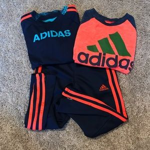 ADIDAS bundle with 2 shirts and 1 jogger